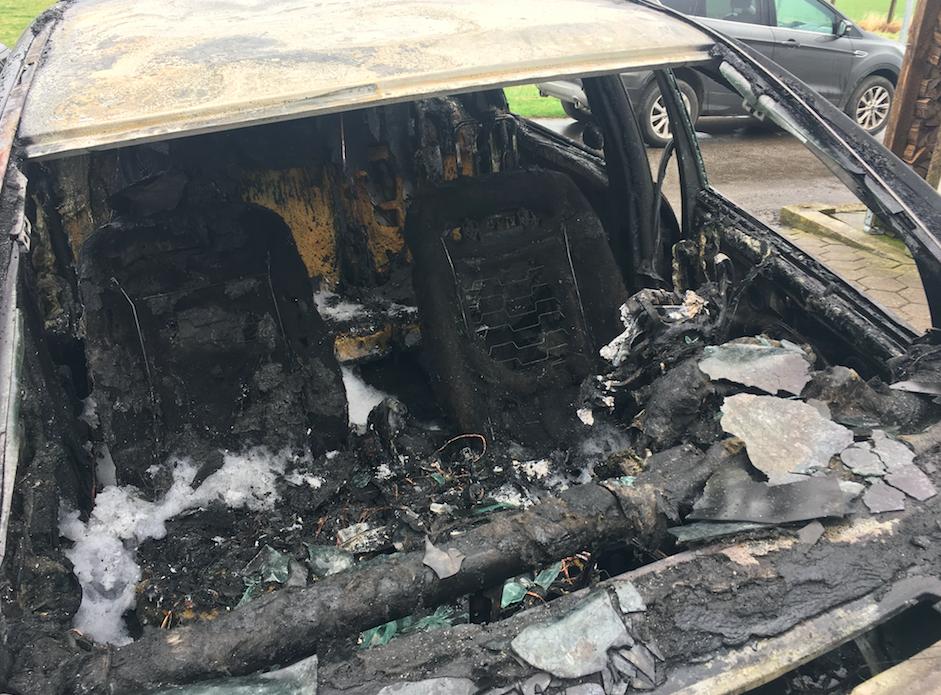 Ausgebranntes Fahrzeug