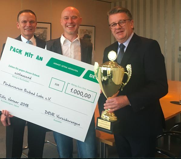 Spendenmeister 2017. 1000,- Euro für mein Ehrenamt, Freibad Lohe!